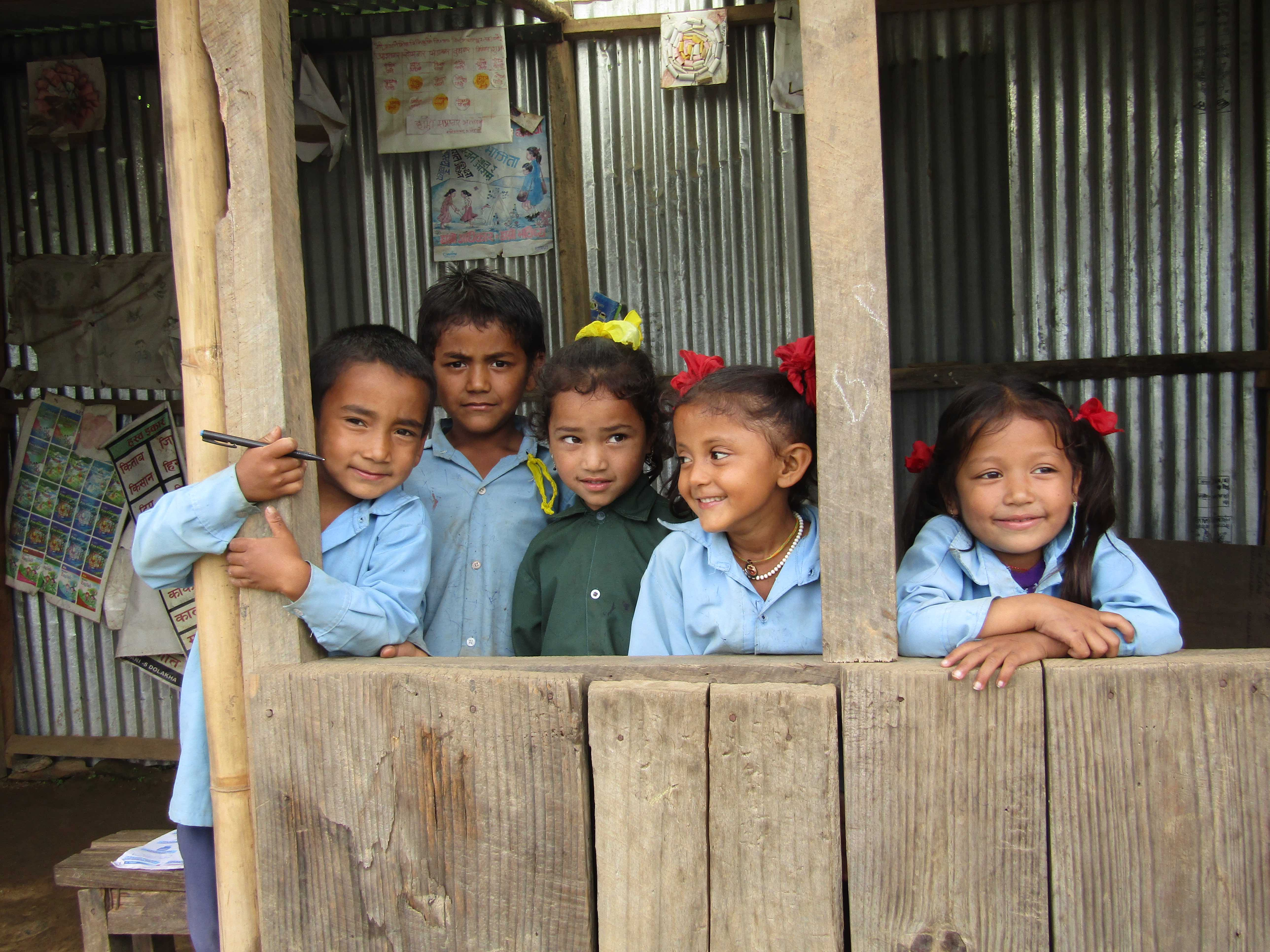 Children at Milijuli Lower Secondary School, Sept. 2017